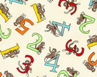 1 Yard - Funky Monkey Counting by Erin Michael for Moda