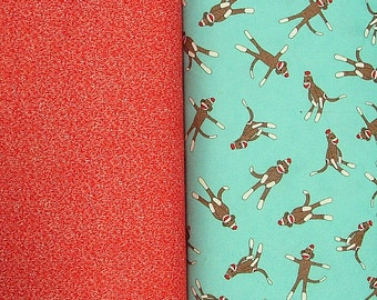 2 Yards Total of FLANNEL from the Funky Monkey Collection for Moda