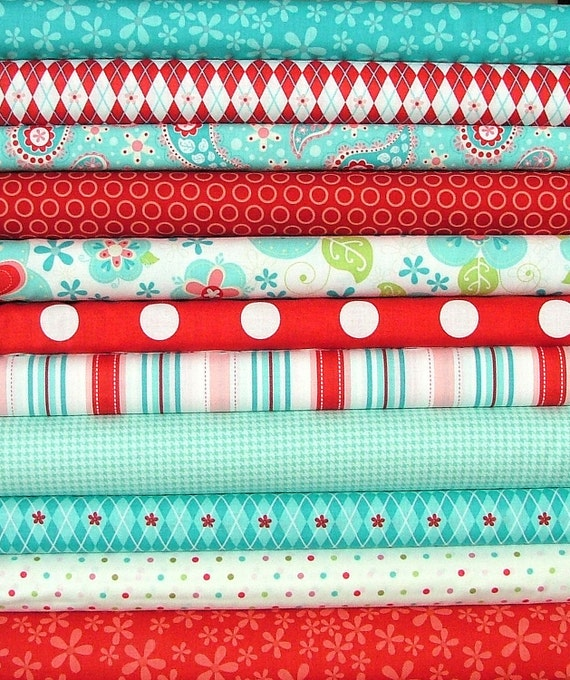 LAST ONE  Sugar and Spice by The Quilted Fish for Riley Blake Fat Quarter Bundle