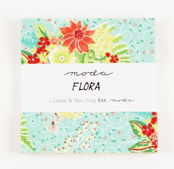 Flora by  Lauren & Jessi Jung  for Moda - 1 Charm Pack