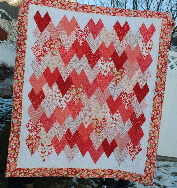 Hearts Hearts Hearts Quilt Pattern in PDF