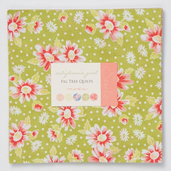 LAST ONE California Girl Layer Cake by Fig Tree Quilts for Moda