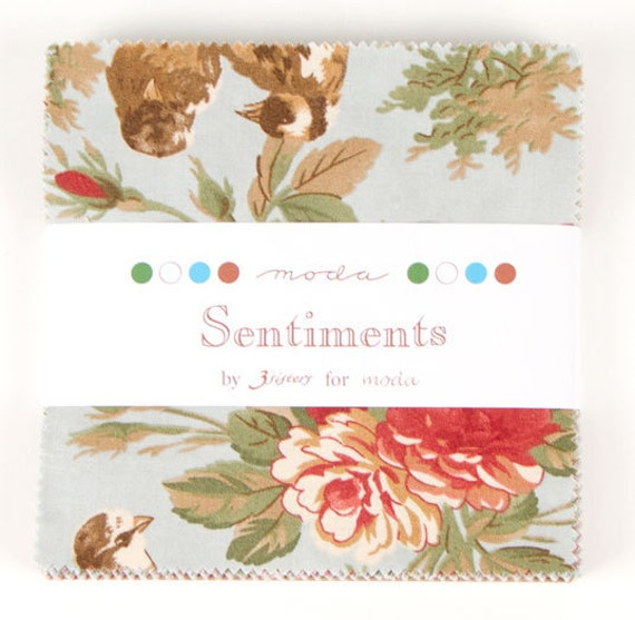 1 Charm Pack from the Sentiments Collection by 3 Sisters for Moda