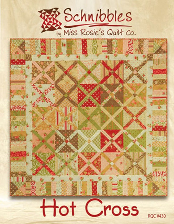 Hot Cross Schnibbles Charm Pack Pattern by Miss Rosie's Quilt Company