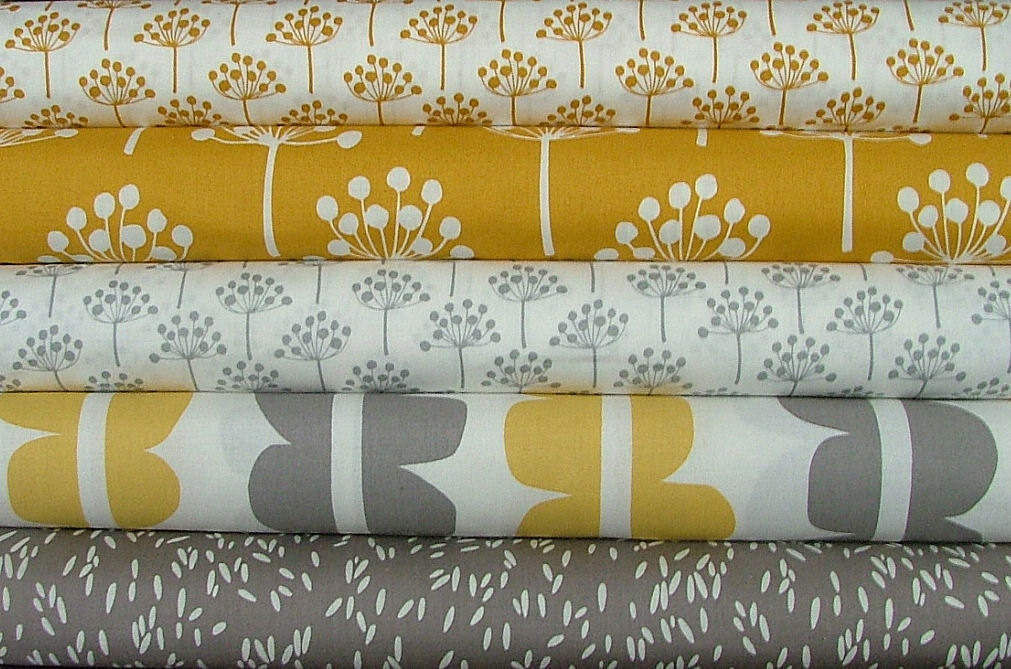 last one fat quarter bundle of echo in yellow grey by lotta. Black Bedroom Furniture Sets. Home Design Ideas