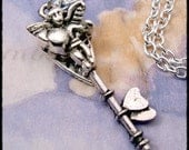 Mothers Day - Delivery - Fairy Key of Hearts Soldered Pendant Necklace