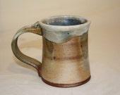 wood fired porcelain slipped stoneware mug