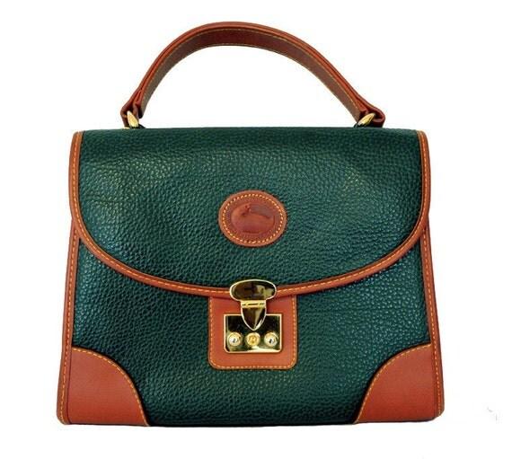 Forest Green Kelly Stachel Handbag.