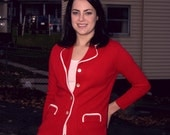 1970s Red Fitted Blazer