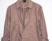Khaki Givenchy Jacket, Unisex Men's sz Small