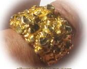 Gold Nugget Fashion Ring