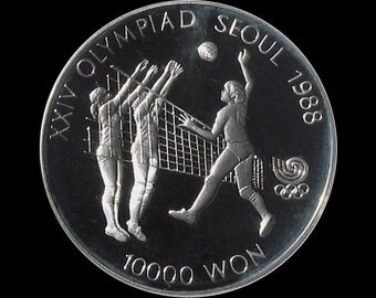 1988 Seoul Olympic Silver Commemorative 10,000 Won Proof