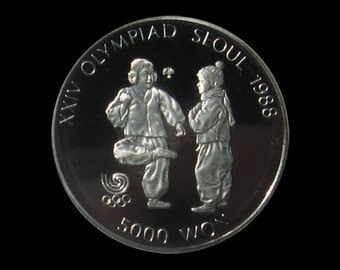 1988 Seoul Olympic 5,000 Won Silver Commemorative Proof