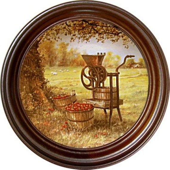 "W.S. George Fine China: ""The Apple Cider Press"" by Maurice Harvey"