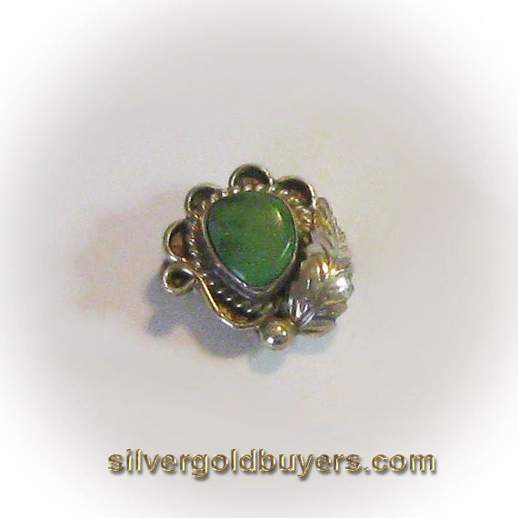 Sterling Silver Green Turquoise Fashion Ring