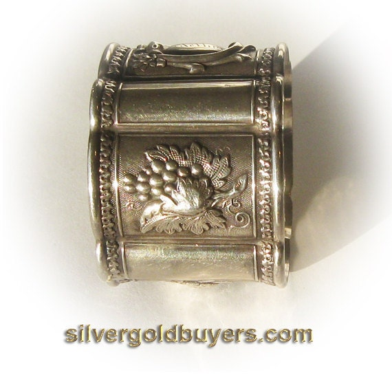 Antique Victorian Solid Silver Napkin Ring