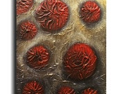 Abstract Heavy Mixed Media Flower Painting