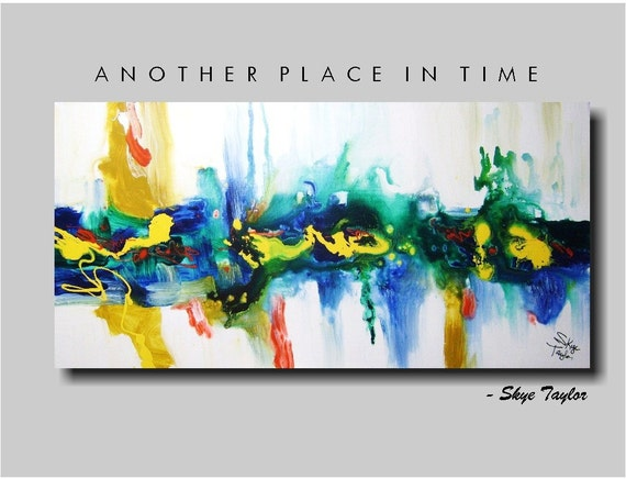 Abstract - Another Place In Time - 24 x 48 - Skye Taylor