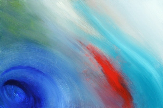 Blue Abstract Original painting - Beyond the Universe - Artist Skye Taylor