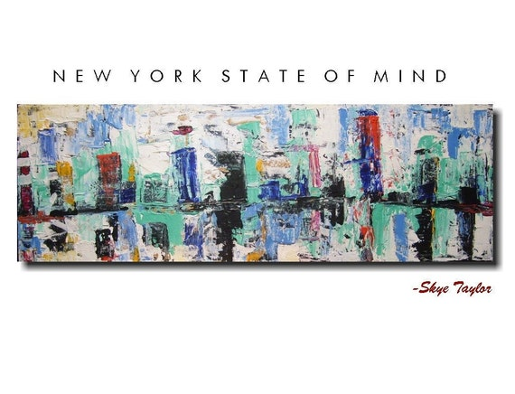 Abstract Original Painting - New York State of Mind - Art -Skye Taylor