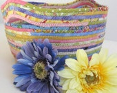 Rope Basket  Hand Coiled  Clothesline Bowl