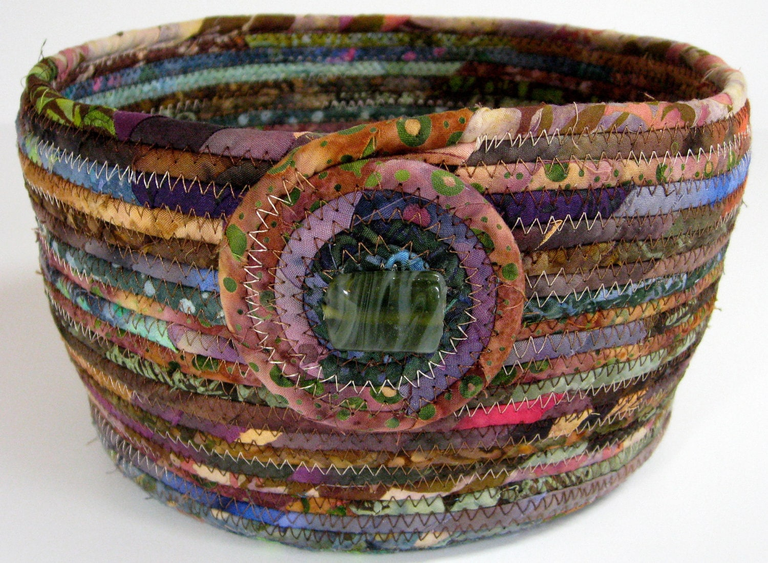 Scrappy Coiled Rope Basket Bowl Planter Under 50