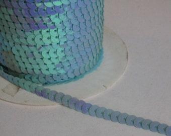 5 Yards Light Blue Sequin Trim - 02