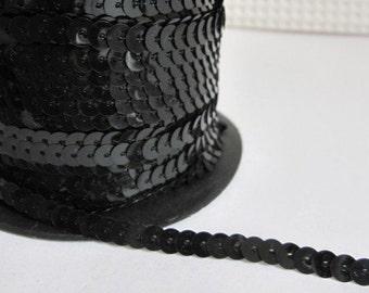 5 Yards Black Sequin Trim - 09