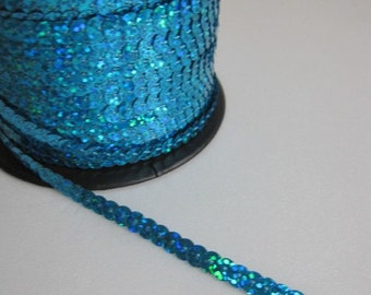 5 Yards Shimmering Blue Sequin Trim - 10