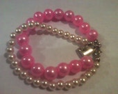 Pink and White Pearl and White Pearl Round FREE Shipping with Code