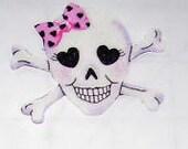 Smiling Glitter Skulls Iron-on Appilque