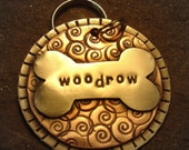 Custom pet ID tag- personalized mixed metal tag for large dog- the Woodrow