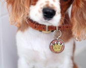 Small to Medium Dog ID Tag- CROWN pet id tag