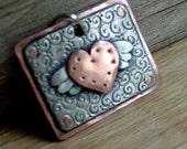 Custom Dog tag - personalized Mini Soaring Heart