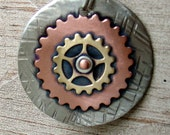 Dog ID tag- stacked cogs