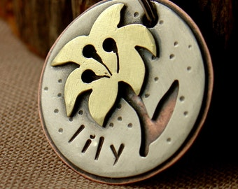 Lily personalized pet id tag
