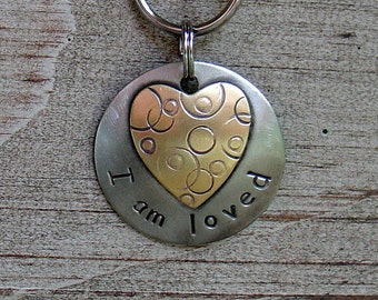 I am loved pet collar charm