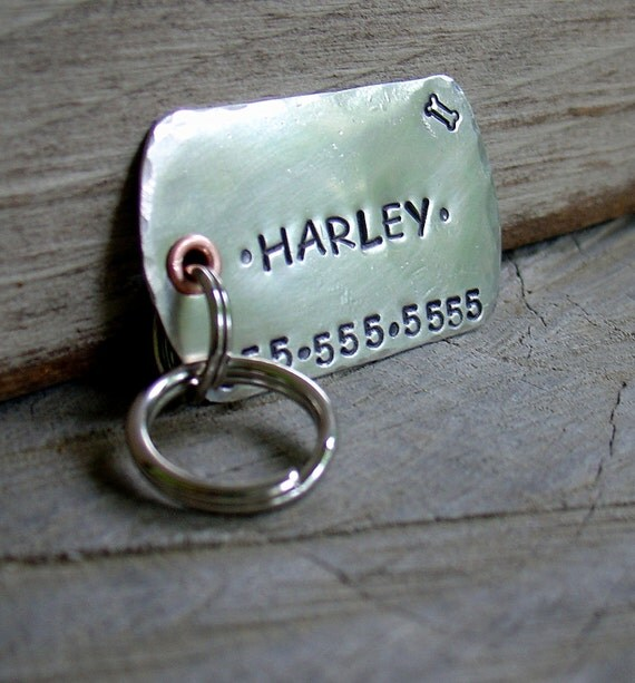 Xl military style dog tag dog id tag personalized for your pet