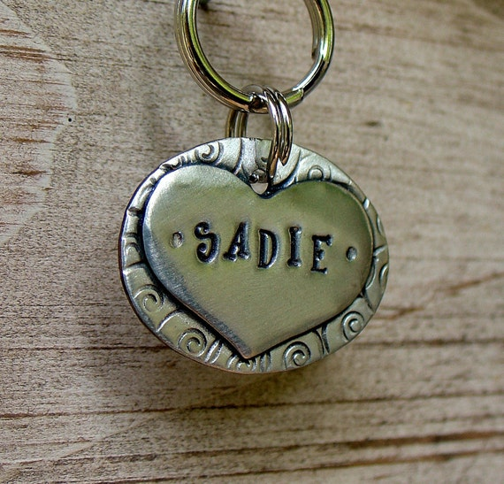 Pet ID Tag- personalized mixed metal tag for dogs -  the Sadie