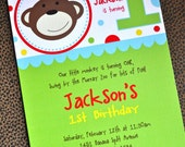 Monkey Mania Party Collection: Printable Invitation