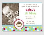 Mod Monkey Collection: Printable Photo Birthday Invitation