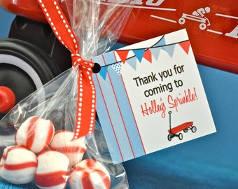 Little Red Wagon Party Collection:  Custom Printable Favor Tag