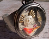 Pocket Watch Cuff  No. 2/ Steampunk / Industrial / Recycled Romance Novel