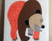 Brown Bear Mini Quilt