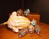 Six Handmade Catnip Mice