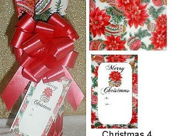 Christmas Wine Bottle Cover - Set of 3