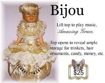 Bijou, OOAK Musical Doll Canister