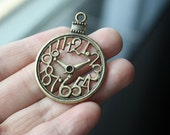 10pcs 40x30mm Antique Bronze Christmas Ball Ornament Numbers Clock Charms Pendants Drop A1104
