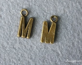 9pcs of Antique Bronze lovely Letter M Connector Charm Pendants Drops 24313