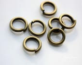 40pcs 10x1.8mm Antiuqe Bronze Open Jumprings 25138